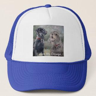 私は私のDawgsを愛します。 黒いラブラドールおよびカワウソ猟犬 キャップ