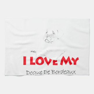 私は私のDogue de sketch Bordeauxを愛します キッチンタオル