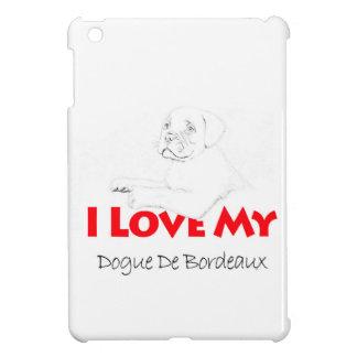 私は私のDogue de sketch Bordeauxを愛します iPad Miniカバー