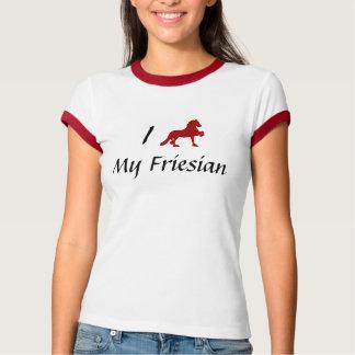 私は私のFriesianを愛します Tシャツ