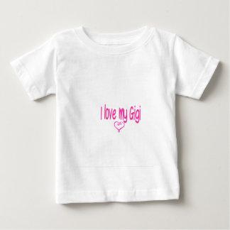 私は私のGigiを愛します ベビーTシャツ