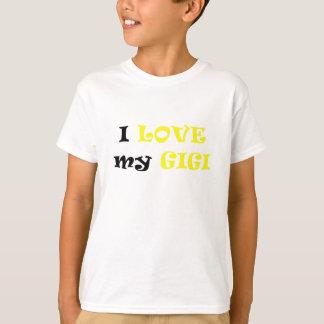 私は私のGigiを愛します Tシャツ