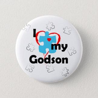 私は私のGodson -自閉症--を愛します 缶バッジ