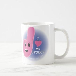 私は私のJ袋のマグを愛します! コーヒーマグカップ
