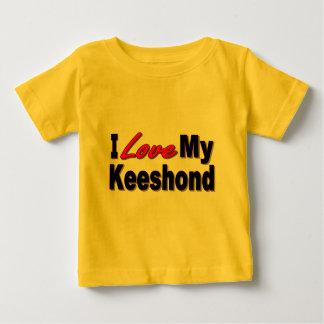 私は私のKeeshond犬のギフトおよび服装を愛します ベビーTシャツ