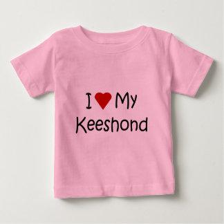 私は私のKeeshond犬の品種恋人のギフトを愛します ベビーTシャツ
