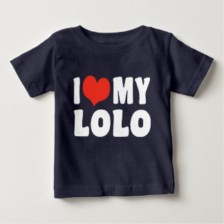 私は私のLoloを愛します ベビーTシャツ