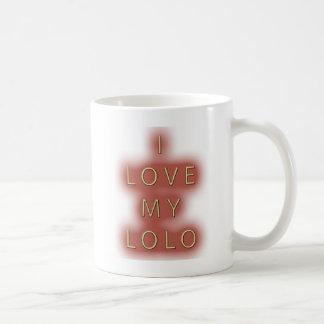 私は私のLoloを愛します(白い) コーヒーマグカップ