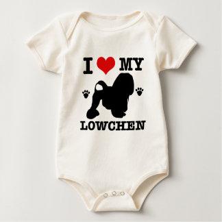私は私のLowchenを愛します ベビーボディスーツ