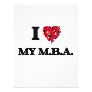私は私のM.B.A.を愛します 21.6CM X 27.9CM チラシ