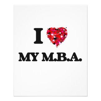私は私のM.B.A.を愛します 11.4CM X 14.2CM チラシ