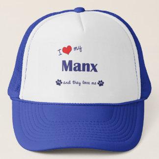 私は私のManx愛します(多数猫) キャップ