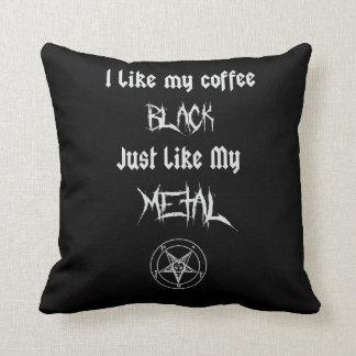 私は私のMetalfのような私のコーヒー黒をちょうど好みます クッション