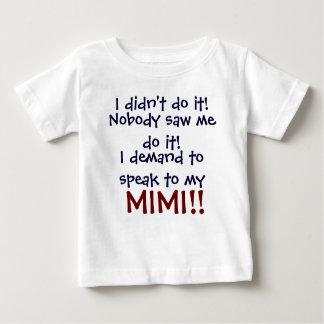 私は私のMimiに話すことを要求します! 幼児子供のT-Shi ベビーTシャツ