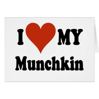 私は私のMunchkin猫のギフトおよび服装を愛します カード