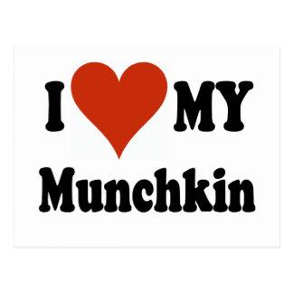 私は私のMunchkin猫のギフトおよび服装を愛します ポストカード