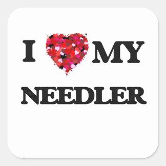 私は私のNeedlerを愛します スクエアシール