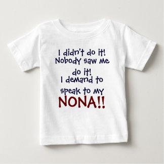 私は私のNONAに話すことを要求します! 幼児Tシャツ ベビーTシャツ