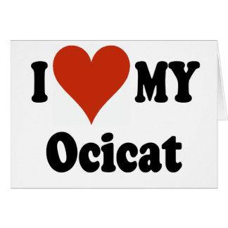 私は私のOcicat猫の商品を愛します カード