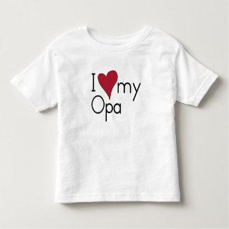 私は私のOpaを愛します トドラーTシャツ