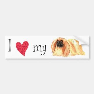 私は私のPekingeseを愛します バンパーステッカー