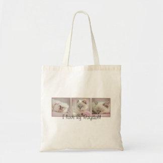 私は私のragdollのバッグを愛します トートバッグ