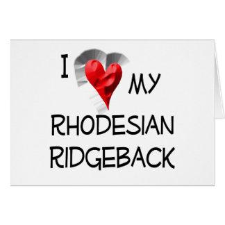 私は私のRhodesian Ridgebackを愛します カード