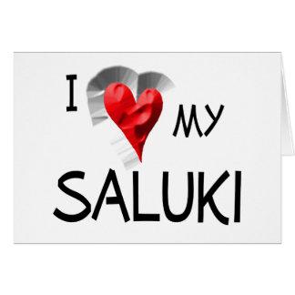 私は私のSalukiを愛します カード
