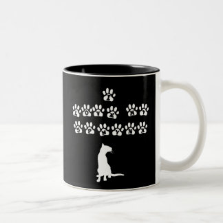 私は私のSphynxを愛します--白い文字 ツートーンマグカップ