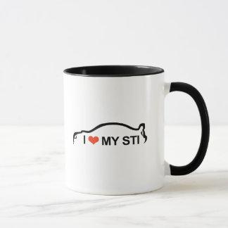 私は私のSTIのシルエットを愛します マグカップ