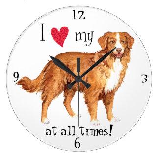 私は私のTollerを愛します ラージ壁時計
