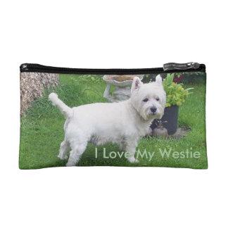 私は私のWestie旅行アクセサリーバッグを愛します コスメティックバッグ
