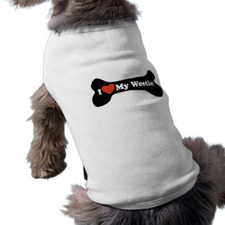 私は私のWestie -犬用の骨--を愛します ペット服