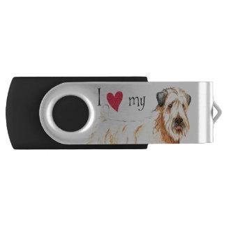 私は私のWheaten愛します USBフラッシュドライブ