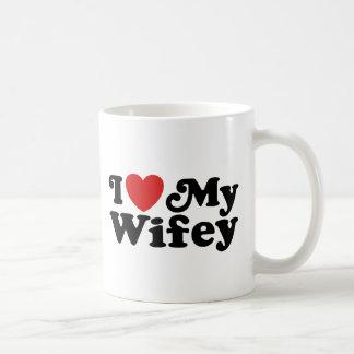私は私のWifeyを愛します コーヒーマグカップ