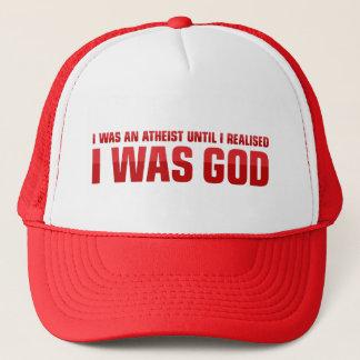 私は私は神だったことを私が実現したまで無神論者でした キャップ