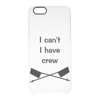 私は私乗組員の例を有してはいけません クリアiPhone 6/6Sケース