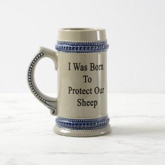 私は私達のヒツジを保護して生まれました ビールジョッキ