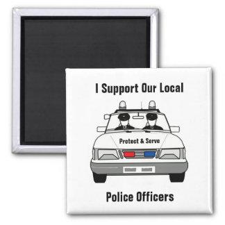 私は私達の地元警察の役人を支えます マグネット