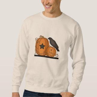 私は秋のカボチャカラスのワイシャツを愛します スウェットシャツ