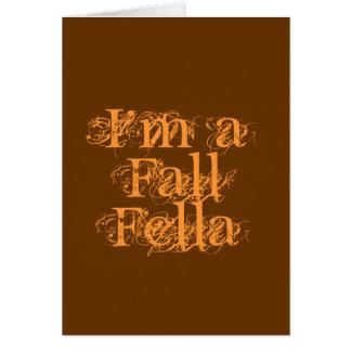私は秋の農夫です。 秋 カード