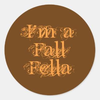 私は秋の農夫です。 秋 ラウンドシール