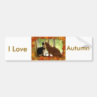 私は秋を愛します バンパーステッカー