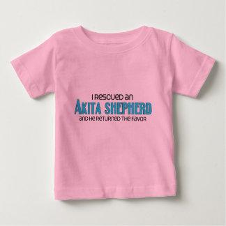 私は秋田の羊飼い(男性)犬の採用を救助しました ベビーTシャツ