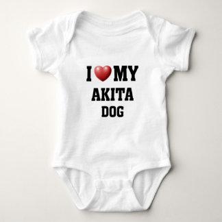 私は秋田私の犬を愛します ベビーボディスーツ
