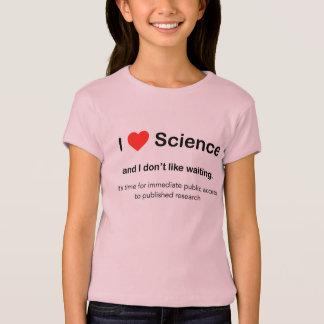 私は科学を愛し、待っていることを好みません Tシャツ