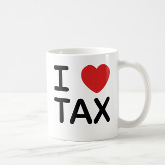 私は税を愛します コーヒーマグカップ