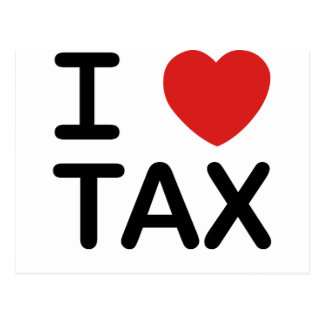 私は税を愛します ポストカード