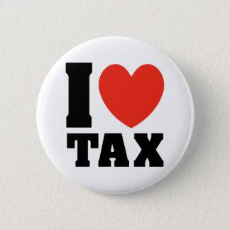 私は税を愛します 5.7CM 丸型バッジ