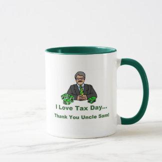 私は税日を愛します マグカップ